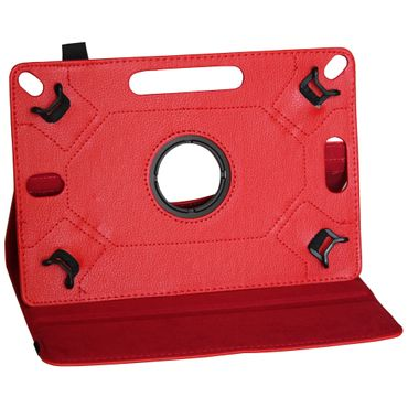 Medion Lifetab P9702 X10302 P10400 P10506 P10505 Tablet Robuste Universal Tablet Schutzhülle aus Kunstleder Hülle Tasche Standfunktion Kameraaussparung 360° Drehbar kombiniert Schutz und Design in der Farbe Rot Cover Case UC-Express  – Bild 7