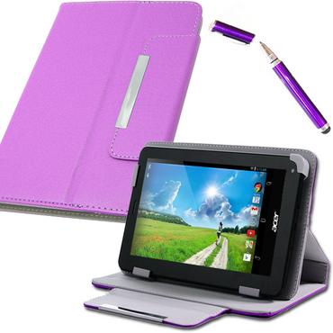 Tasche Für Acer Iconia One 7 Hülle Schutz Hülle Etui Cover Case Bag Pen In Lila