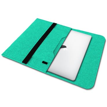 Sleeve Hülle für Apple Macbook Pro / Air 13.3 Filz Tasche Notebook Cover Mint – Bild 2