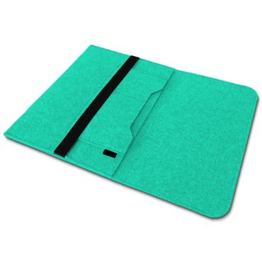 Sleeve Hülle für Apple Macbook Pro / Air 13.3 Filz Tasche Notebook Cover Mint – Bild 7