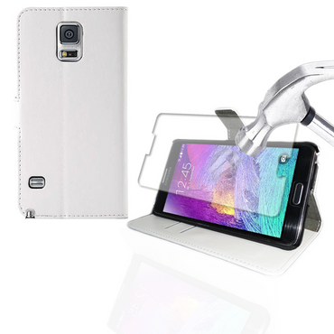 Tasche Hülle Panzerfolie für Samsung Galaxy Note 4 Schutzhülle Flip Case Cover  – Bild 4