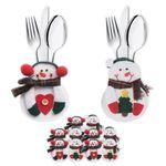 6er Set Bestecktasche Besteckbeutel Besteckhalter Serviettentasche Weihnachten  001