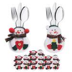 8er Set Bestecktasche Besteckbeutel Besteckhalter Serviettentasche Weihnachten 001