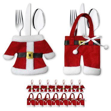 Bestecktasche Besteckbeutel Besteckhalter Serviettentasche Weihnachten 8er Set  – Bild 1
