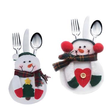 Bestecktasche Besteckbeutel Besteckhalter Serviettentasche Weihnachten Xmas Deko – Bild 11
