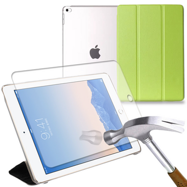 Apple iPad Air 2 Schutz-Hülle Display-Schutz-Glas Tasche Smart Tablet Cover Case – Bild 8