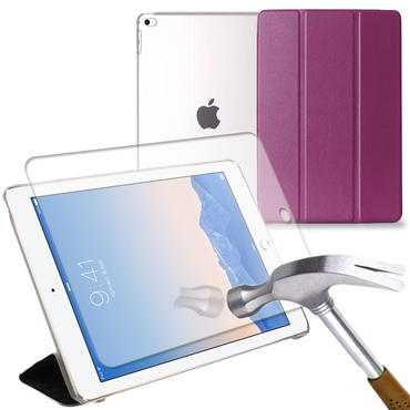 Apple iPad Air 2 Schutz-Hülle Display-Schutz-Glas Tasche Smart Tablet Cover Case – Bild 10