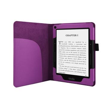 Hülle für Amazon Kindle Voyage Tasche Schutzhülle Cover Case Echtglas Ebook Lila – Bild 5