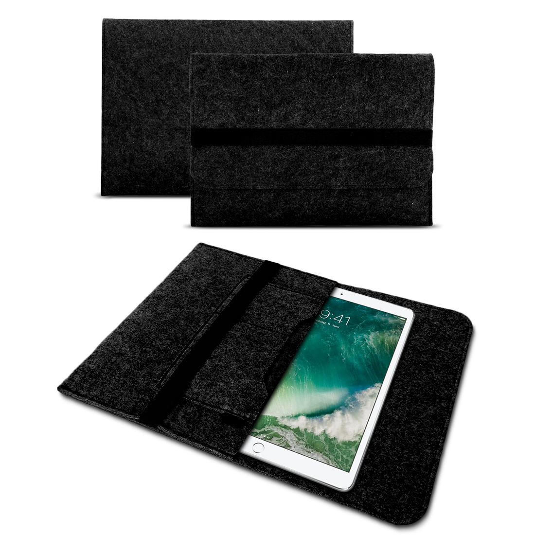 sleeve h lle f r apple ipad 2017 2018 tasche filz schutzh lle cover tablet case smartphone. Black Bedroom Furniture Sets. Home Design Ideas