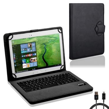 Tasche Tastatur f TrekStor SurfTab Twin 10.1 Hülle Schutzhülle Bluetooth NAUC® – Bild 1