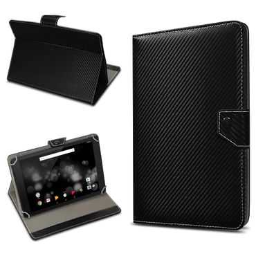 Amazon Fire HD 10 Tablet Tasche Hülle Schutzhülle Case Cover Carbon-Optik Etui – Bild 2