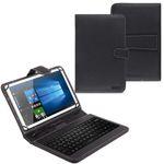 NAUC Tablet Tasche USB Tastatur QWERTZ Keyboard Tablet Hülle Schutz Cover Case 001