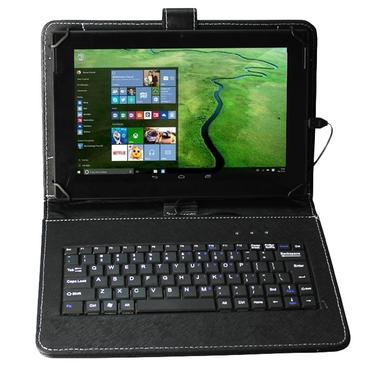NAUC® Hülle Tasche Keyboard Case für Blaupunkt Discovery 102C 108C 111C Tastatur QWERTZ Standfunktion Micro USB  – Bild 2