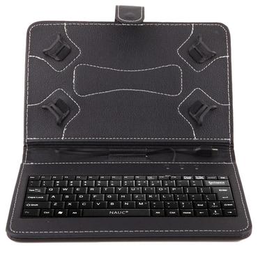 NAUC Hülle Tasche Keyboard Case für Odys Rise 10 / Space 10 Plus 3G Tastatur QWERTZ Standfunktion Micro USB  – Bild 8