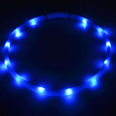 UC Express® Hunde Leuchthalsband Universell LED Hundehalsband Leuchtband Leuchtschlauch Blinkhalsband Blinki Farbwunsch – Bild 7