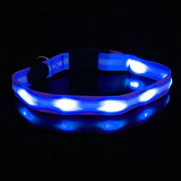 UC Express® Hunde Leuchthalsband Universell LED Hundehalsband Leuchtband Leuchtschlauch Blinkhalsband Blinki Farbwunsch – Bild 4