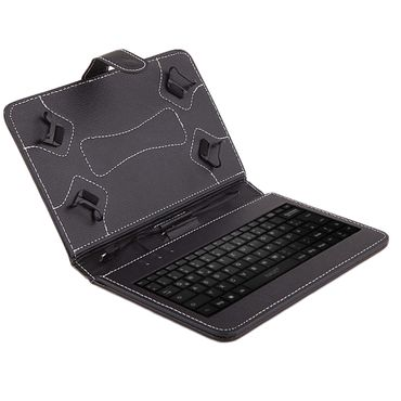 NAUC® Hülle-Tasche-Keyboard-Case für Jay-Tech Tablet PC XE7DW XTE7 - XE7 Tastatur QWERTZ Standfunktion Micro USB  – Bild 2