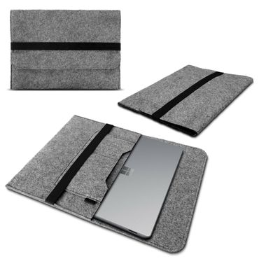 Microsoft Surface Book Tasche Hülle Laptop Schutz Case Sleeve Filz Grau NAUCI – Bild 1