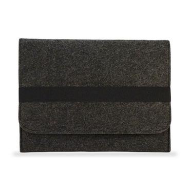 NAUCI Edle und umweltfreundliche Laptop Schutzhülle für Samsung Galaxy Tab A 10.1 (2016) aus strapazierfähigem Filz in dunkel Grau mit praktischen Innentaschen Sleeve Hülle Tasche Cover Notebook Case Tasche – Bild 3