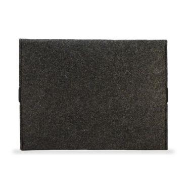NAUCI Edle und umweltfreundliche Laptop Schutzhülle für Samsung Galaxy Tab A 10.1 (2016) aus strapazierfähigem Filz in dunkel Grau mit praktischen Innentaschen Sleeve Hülle Tasche Cover Notebook Case Tasche – Bild 4