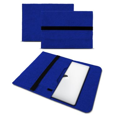 Sleeve Hülle Apple Macbook Pro / Air 13.3 Filz Tasche Notebook Schutz Cover Blau – Bild 1