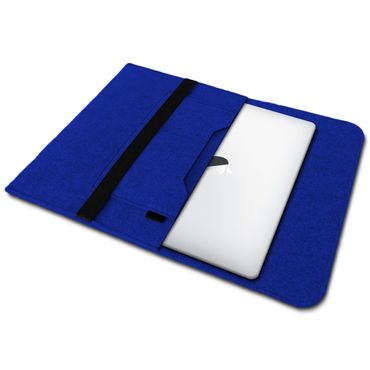 Sleeve Hülle Apple Macbook Pro / Air 13.3 Filz Tasche Notebook Schutz Cover Blau – Bild 2