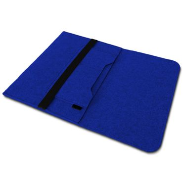 Sleeve Hülle Apple Macbook Pro / Air 13.3 Filz Tasche Notebook Schutz Cover Blau – Bild 6