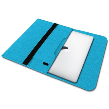 Sleeve Hülle für Apple Macbook Pro / Air 13.3 Filz Tasche Notebook Cover Türkis – Bild 2