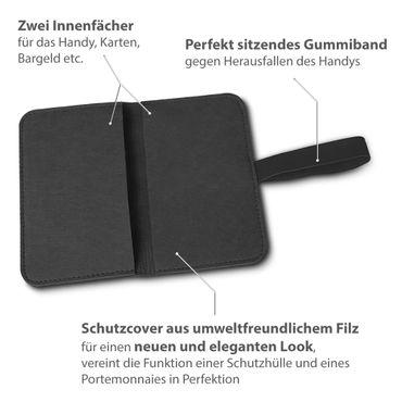 Filz Hülle Samsung Galaxy S7 / S7 Edge Tasche Cover Case Handy Flip Filztasche – Bild 20