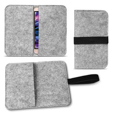 Medion Life E5020 | E5005 Tasche Filz Hülle Cover Case Handy Flip Filztasche  – Bild 15