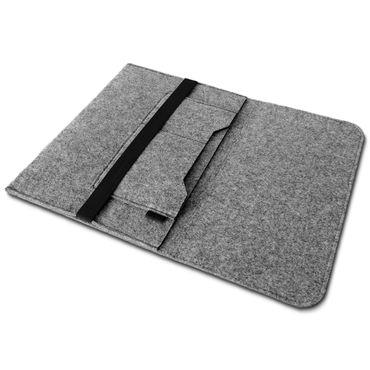 Edle und umweltfreundliche Laptop Schutzhülle für 17 - 17.3 Zoll Notebook Ultrabook Laptop aus strapazierfähigem Filz in Grau mit praktischen Innentaschen Sleeve Hülle Tasche Cover Notebook Case Tasche von UC-Express®  – Bild 6