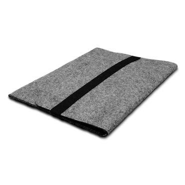 Edle und umweltfreundliche Laptop Schutzhülle für 9.7 - 10.1 Zoll Tablet Notebook Ultrabook Laptop aus strapazierfähigem Filz in Grau mit praktischen Innentaschen Sleeve Hülle Tasche Cover Notebook Case Tasche von UC-Express®  – Bild 5