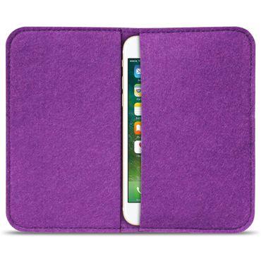 Universal Smartphone Tasche Cover Handytasche Hülle Case Filz Schutzhülle Sleeve – Bild 25