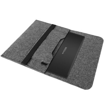 Laptop Tasche Sleeve Hülle für TrekStor SurfTab twin 11.6 Notebook Netbook Ultrabook Case aus strapazierfähigem Filz in Grau mit praktischen Innentaschen von NAUCI – Bild 2