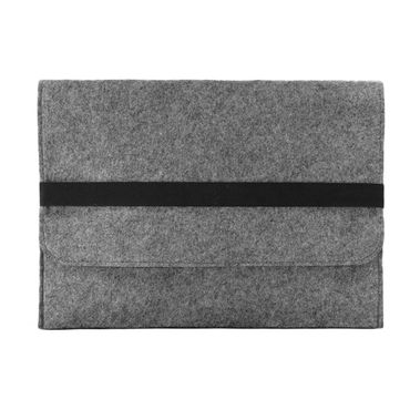 Notebook Tasche Sleeve Hülle für Apple Macbook 12 Zoll Netbook Ultrabook Laptop Case aus strapazierfähigem Filz in Grau mit praktischen Innentaschen von NAUCI – Bild 5