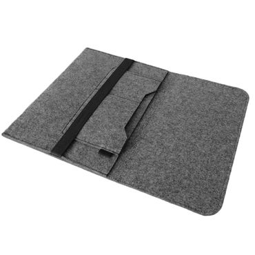 Notebook Tasche Sleeve Hülle für Apple Macbook 12 Zoll Netbook Ultrabook Laptop Case aus strapazierfähigem Filz in Grau mit praktischen Innentaschen von NAUCI – Bild 3
