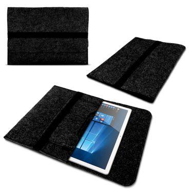 Laptop Tasche Sleeve Hülle für Odys Vario Pro 12 Notebook Netbook Ultrabook Case aus strapazierfähigem Filz in Dunkelgrau mit praktischen Innentaschen von NAUCI – Bild 8