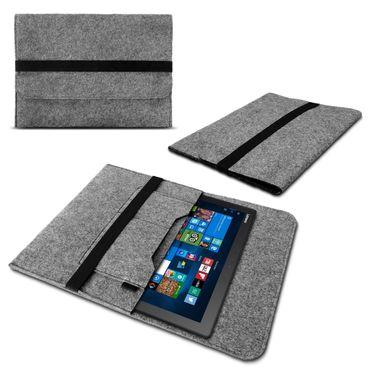 Sleeve Tasche für Lenovo Miix 510 520 Notebook Hülle Filz Laptop Case Cover Grau – Bild 1