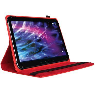 Tablet-Schutz-Hülle für Medion LifeTab P9702 X10302 P10400 aus hochwertigem Kunstleder mit Standfunktion 360° Drehbar kombiniert Schutz und Design in Rot Cover Case von NAUCI – Bild 2