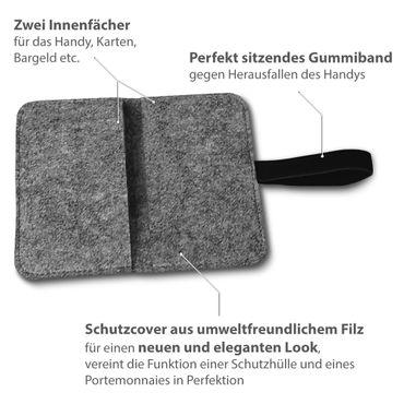 Smartphone Tasche Samsung Galaxy A3 2017 2016 2015 Cover Schutzhülle Sleeve Filz – Bild 15