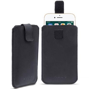Smartphone Leder Tasche für Apple iPhone 7 Handyhülle Cover Pull Tab Case Hülle – Bild 2