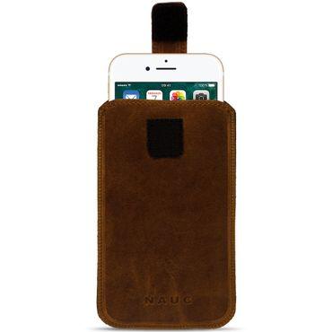 Leder Tasche für Apple iPhone Handyhülle Cover Pull Tab Case Hülle Schutzhülle – Bild 3