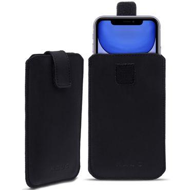 Leder Tasche für Apple iPhone Handyhülle Cover Pull Tab Case Hülle Schutzhülle – Bild 9