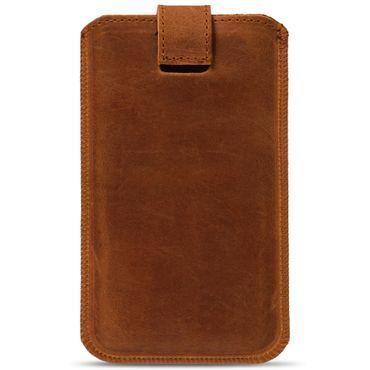 Handy Hülle für Samsung Galaxy S10 Plus Leder Tasche cognac Pull Tab Schutzhülle – Bild 4