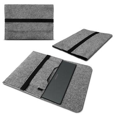 Tasche Sleeve Hülle für Medion Akoya E2228T Notebook Filz Grau Schutzhülle Nauci – Bild 1