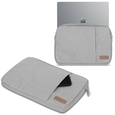 Microsoft Surface Laptop 13,5 Hülle Tasche Notebook Schutzhülle Schwarz / Grau Cover Case – Bild 3