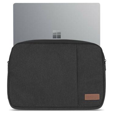 Microsoft Surface Laptop 13,5 Hülle Tasche Notebook Schutzhülle Schwarz / Grau Cover Case – Bild 2