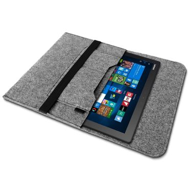 Lenovo Yoga Tab 3 Plus Tasche Sleeve Hülle Grau Tablet Schutzhülle Cover Filz  – Bild 2