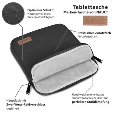 Lenovo Yoga Tab 3 Plus Hülle Tasche Tablet Schutzhülle Schwarz Grau Cover Case Etui  – Bild 15