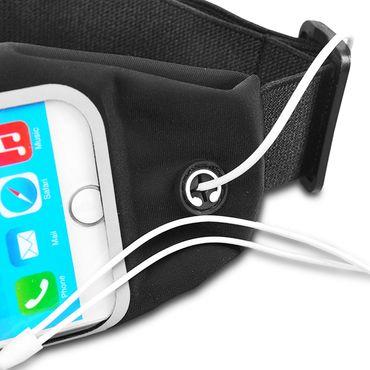 Huawei Nova 3 Tasche Hülle Schwarz Jogging Fitnesstasche Bauchtasche Lauf Case  – Bild 3
